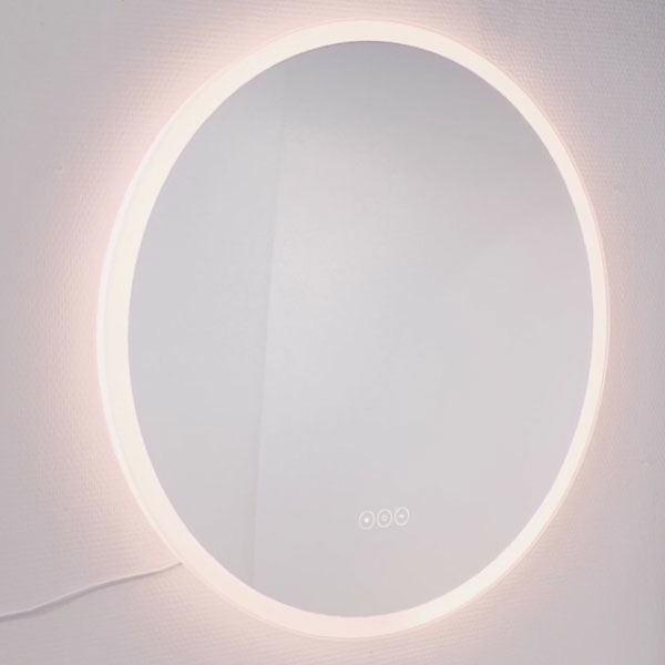 Køb rundt spejl med LED lys Ø80 cm