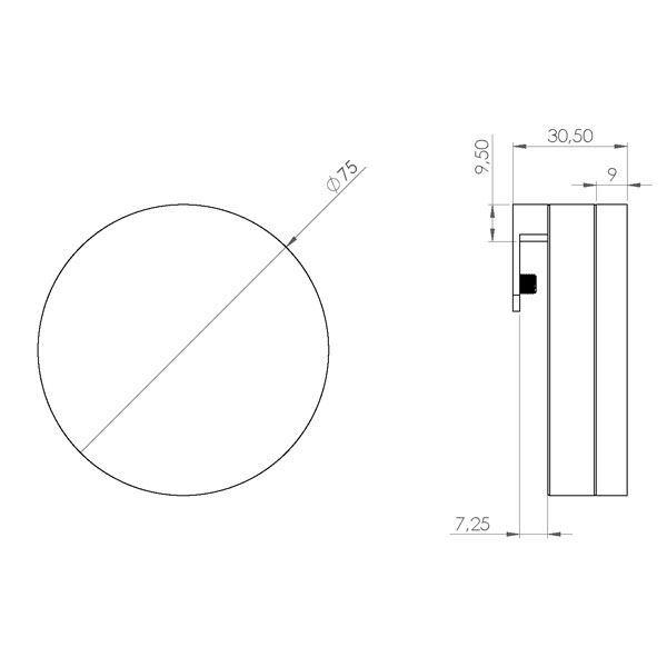 Opdateret LED spejllampe rund- Flot LED lampe til spejl HH95