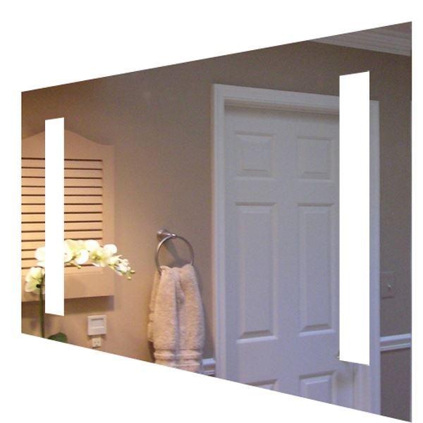 Tidssvarende Smart 120 x 65 cm spejl med lys og kontakt IO-74